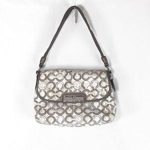 Coach Sequins Op Art Semi Shoulder/Shoulder Bag